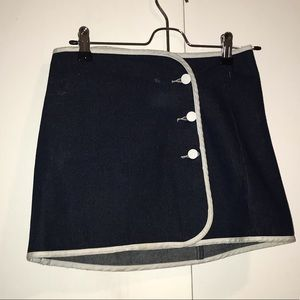 BDG Jean Skirt with White Trim and Buttons